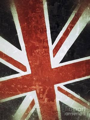 Old Uk Flag Print by Carlos Caetano
