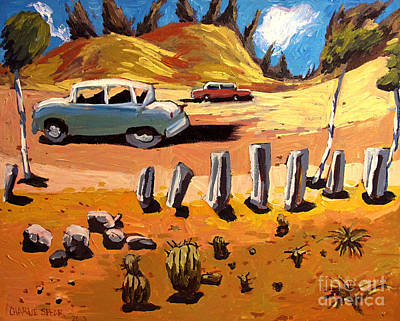 Old Us Route 66 Tuscon 1950 Original by Charlie Spear