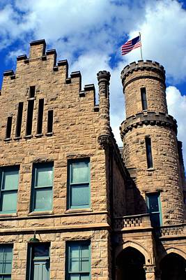 Old Vanderburgh County Jail Print by Deena Stoddard