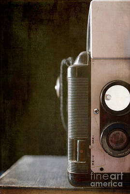 Old Vintage Film Camera Print by Edward Fielding