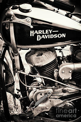 Motorbike Photograph - Old Vintage Hd by Tim Gainey