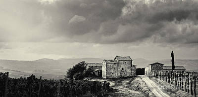 Siena Photograph - Old Vinyard Farmhouse In Val D'orcia Tuscany Italy by Robert Leon