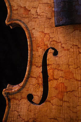 Violin Photograph - Old Violin Close Up by Garry Gay