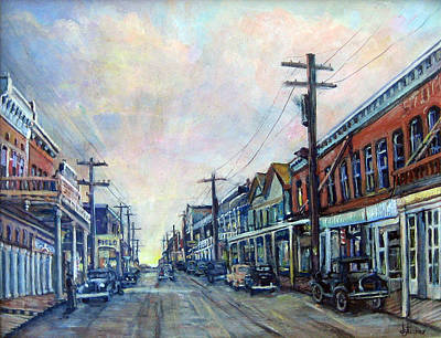 Ghost Town Painting - Old Virginia City by Donna Tucker