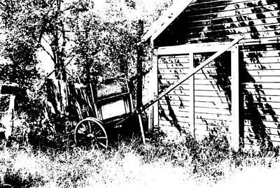 Old Wagon And Shed Print by Donald  Erickson