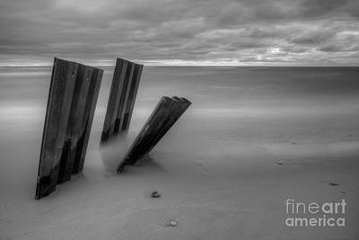 Northport Photograph - Old Walls Falling In Black And White by Twenty Two North Photography