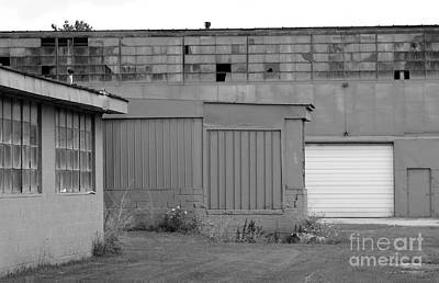 Building Factory Work Vintage Photograph - Old Warehouse Black And White by Karen Adams