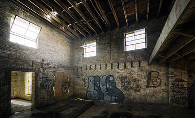 Spray Paint Photograph - Old Warehouse Interior by Scott Norris