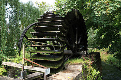 Old Waterwheel Print by Aidan Moran