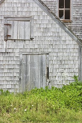 Old Weathered Building In Maine Print by Keith Webber Jr