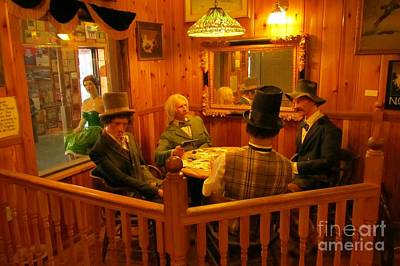 Old West Card Game Print by John Malone