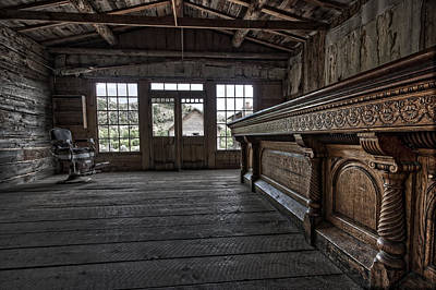 Bannack Ghost Town Photograph - Old West Saloon Bar -- Bannack Ghost Town Montana by Daniel Hagerman