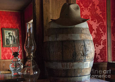 Oil Lamp Photograph - Old West Saloon by Juli Scalzi