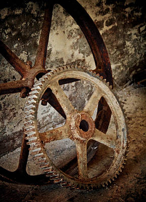 Old Wheels Print by Odd Jeppesen