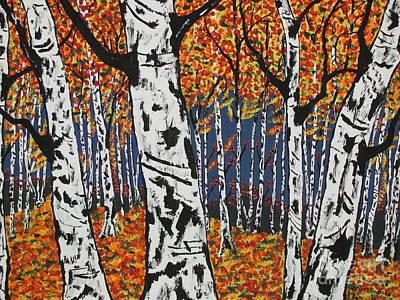 Old White  Birch Original by Jeffrey Koss