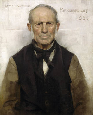 Old Willie - The Village Worthy, 1886 Print by Sir James Guthrie