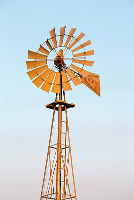 Old Windmill At Sunset Near New Print by Chuck Haney