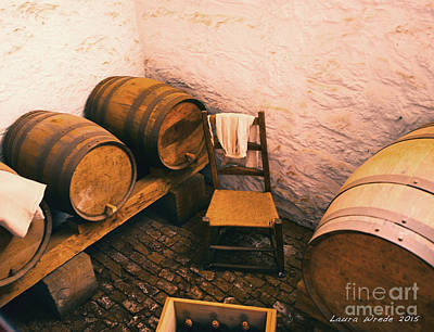 Old Wine Cellar And Kegs Monticello Virginia Print by Artist and Photographer Laura Wrede