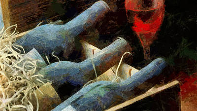 Box Wine Painting - Old Wine by Georgi Dimitrov