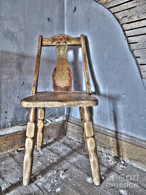 Nevada Photograph - Old Wooden Chair by Dianne Phelps