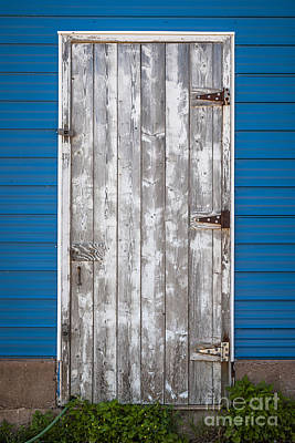 Aluminum Photograph - Old Wooden Door by Elena Elisseeva
