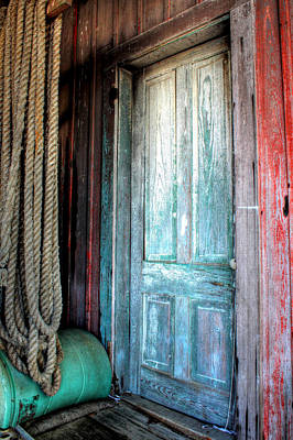 Old Wooden Door Print by Lynn Jordan