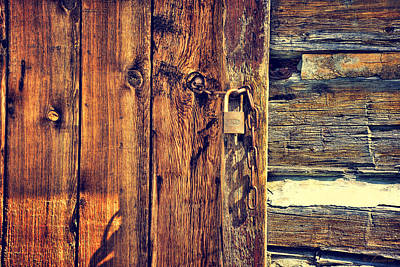 Safeguard Photograph - Old Wooden Door by Maria Angelica Maira