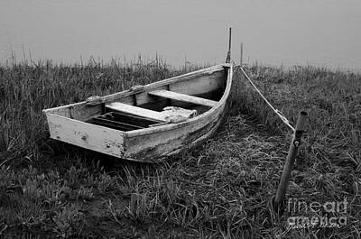 Old Wooden Rowboat II Print by Dave Gordon
