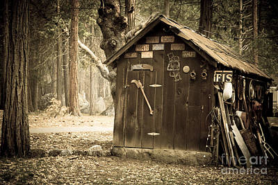 Antique Outhouse Photograph - Old Wooden Shed Yosemite by Jane Rix