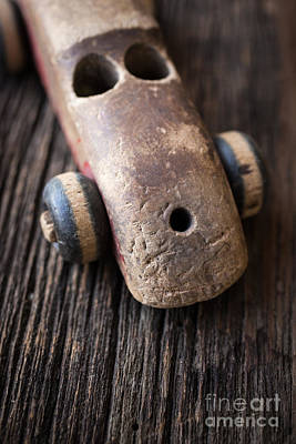 Old Objects Photograph - Old Wooden Toy Car by Edward Fielding