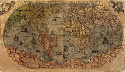 Old World Map Print by Dan Sproul