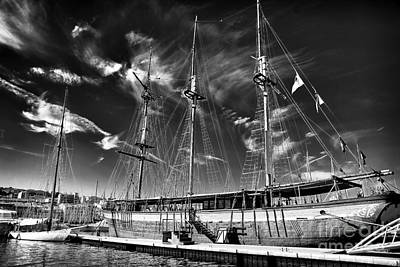Old World Sailboat Print by John Rizzuto