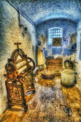 Olde Victorian Washroom Print by Ian Mitchell