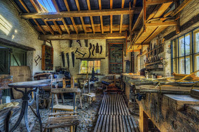 Window Bench Photograph - Olde Workshop by Ian Mitchell