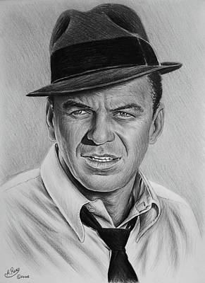 Frank Sinatra Drawing - Ole Blue Eyes by Andrew Read