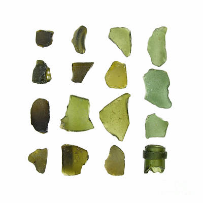 Olive Green Sea Glass Print by Jennifer Booher