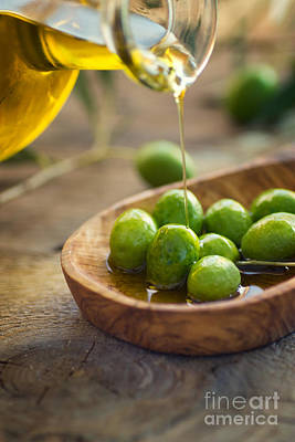 Olive Oil Print by Mythja  Photography