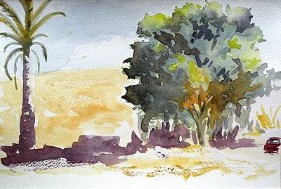 Olive Tree In Crete Original by Uma Krishnamoorthy