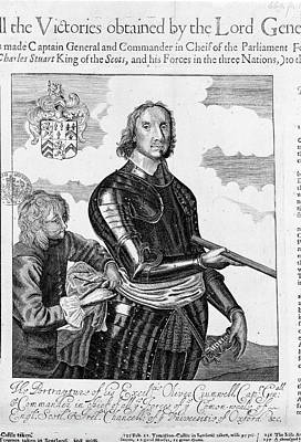 Oliver Cromwell Print by British Library