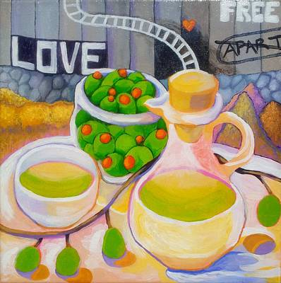 Democracy Painting - Olives Behind A Wall by Corey Habbas