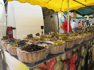 Olives For Sale Print by Pema Hou