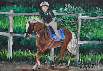 Olivia Painting - Olivia And Teddy by Sally Rice