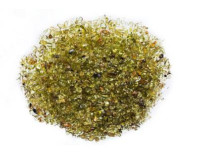 Peridot Photograph - Olivine Sand by Science Photo Library