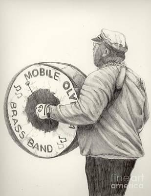 Mardi Drawing - Olympia Brass Band by Phyllis Henson