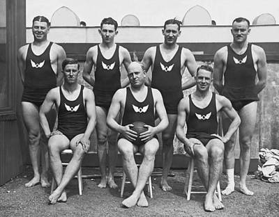 Olympic Club Water Polo Team Print by Underwood Archives