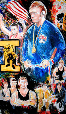 Painting - Olympic Wrestling Must Stay by Jon Baldwin  Art