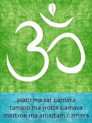 Meditation Painting - Om Asato Ma Sadgamaya by Linda Woods