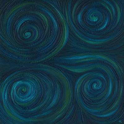 Abstract Painting - Om by Laura Teti