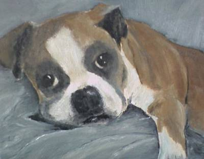 Susan L Richardson Art Painting - Omar by Susan Richardson
