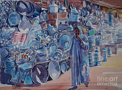 Painting - Omdurman Markit by Mohamed Fadul